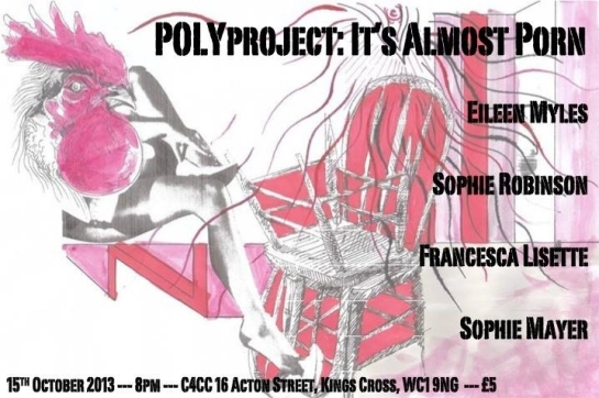 Flyer for POLYproject 2: 'It's Almost Porn'
